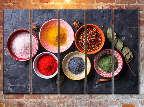Large Various Spices Wall Art Decor Picture Painting Print 35 by 55 in