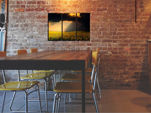 sunflower sky Wall Art Decor Picture Painting Print Creative Art