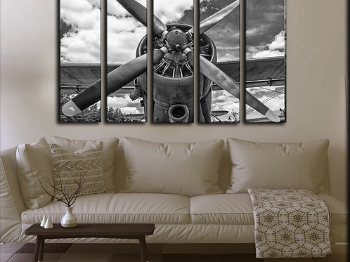 Big Vintage Airplane Propeller Wall Art Decor Picture Painting Print 35 by 55 in