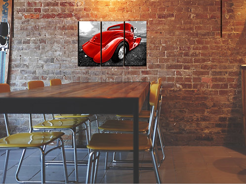 Hot Rod Wall Art Decor Picture Painting Print Vintage Car Art