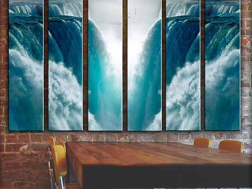 Waterfall Wall Art Decor Picture Painting Print Nature Art