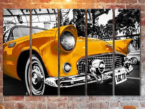 Big Ford Thunderbird 1955 Wall Art Decor Picture Painting Print 35 by 55 in