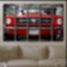 Red Ford Mustang 1964 wall art picture on 5 canvas panels