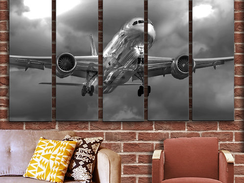 Airplane Wall Art - Boeing 787 Dreamliner Wall Picture 35x55 inches