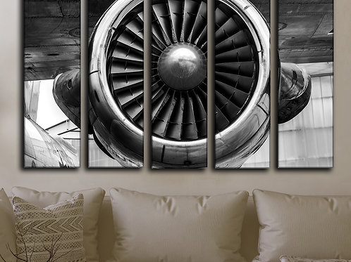 Big Airplane Engine Wall Art Decor Picture Painting Print 35 by 55 in