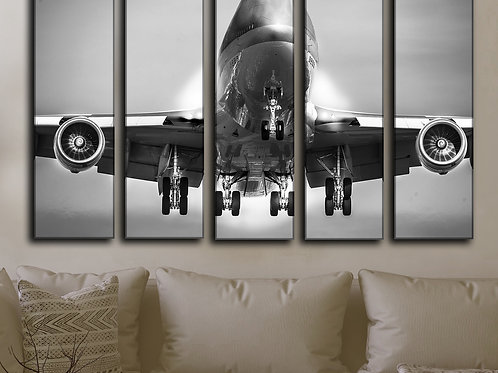 Big Jumbo Jet Boeing-747 Wall Art Decor Picture Painting Print 35 by 55 in