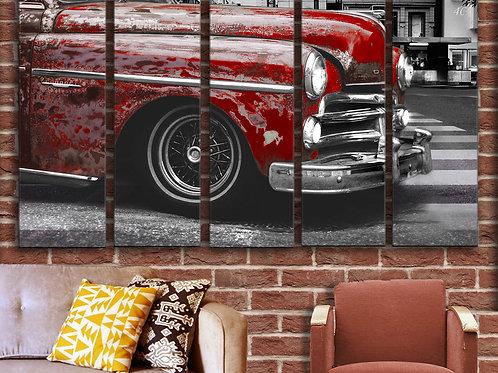 Vintage Car Wall Art Decor Picture Painting Print Transportation Art