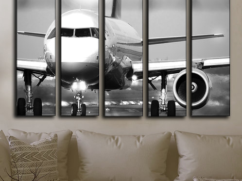 Big Jet Airplane Boeing 737 Wall Art Decor Picture Painting Print 35 by 55 in