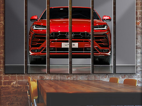 Lamborghini Wall Art Decor Picture Painting Print Sport Car Art