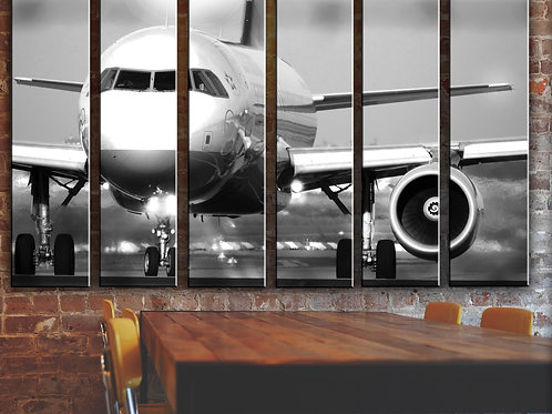 Big Jet Airplane Boeing 737 Wall Art Decor Picture Painting Print 44 by 67 in