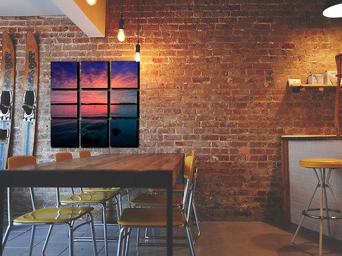 Stunning Lake Sunset Wall Art Decor Picture Painting Print Creative Art