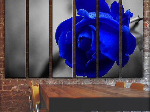 Blue Rose Wall Art Decor Picture Painting Print Rose Flowers and Nature Art