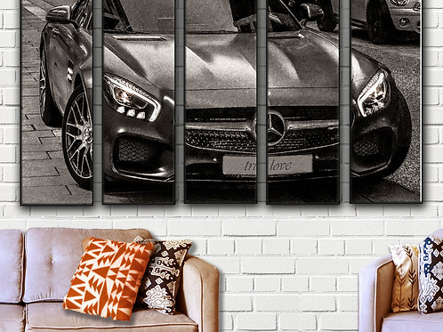 Mercedes AMG GT Wall Art Decor Picture Painting Print 35 by 55 in