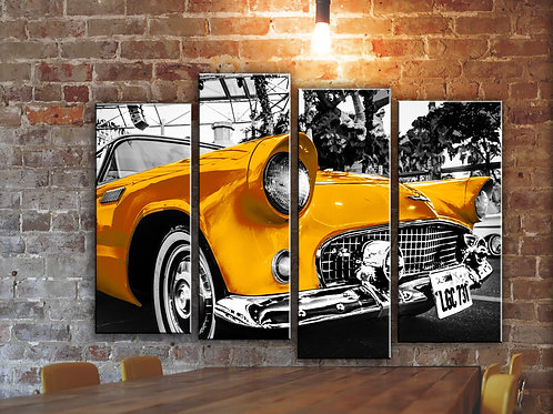 Big Ford Thunderbird 1955 Wall Art Decor Picture Painting Print 32 by 44 in