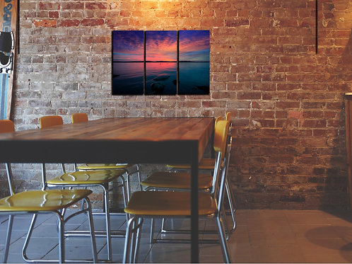 Stunning Lake Sunset Wall Art Decor Picture Painting Print Creative Art