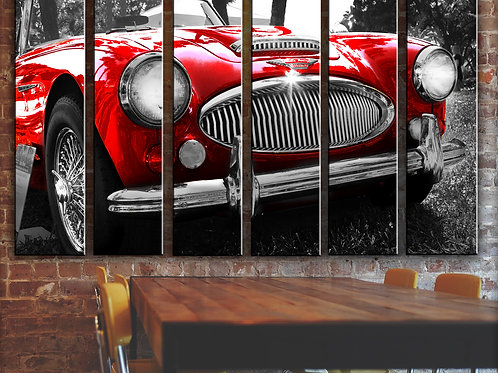Large Austin Healey Wall Art Decor Picture Painting Print 44 by 67 in