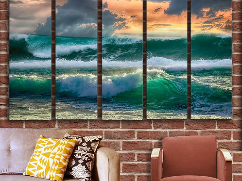 Sea Waves Wall Art Decor Picture Painting Print Nature Art