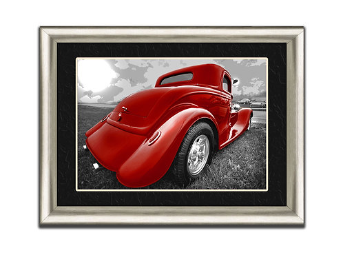 Hot Rod Wall Art Decor Picture Painting Print 12 by 16 in