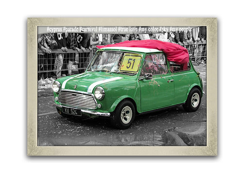 Austin Rover Mini Cooper Wall Art Decor Picture Painting Print 31 by 31 in