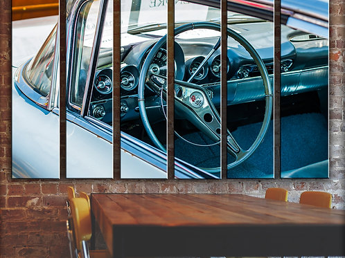 Classic American Muscle Car Wall Art Decor Picture Painting Print 6p, 44x67
