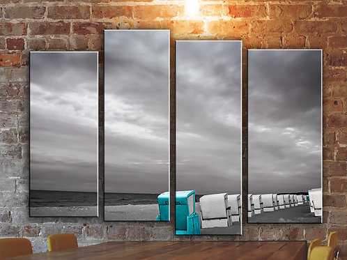 Chair on a Beach Wall Art Decor Picture Painting Print Creative Art