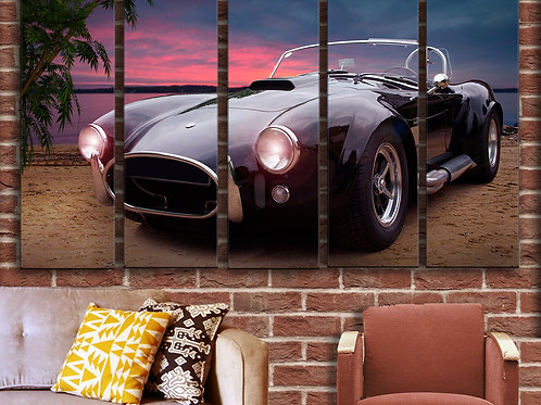 Vintage Car AC Cobra Wall Art Decor Picture Painting Print Classic Oldtimer Art