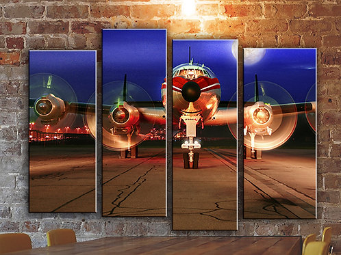 Airplane Propellers Wall Art Decor Picture Painting Print Aviation Art