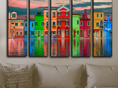 Venice Cityscape Wall Art Decor Picture Painting Print for Living room