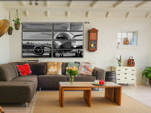 Airplane Wall Art Decor Picture Painting Print Aviation Art