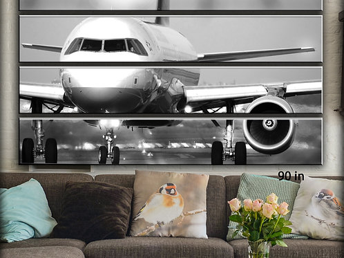 Huge Jet Airplane Boeing 737 Wall Art Decor Picture Painting Print 70 by 90 in