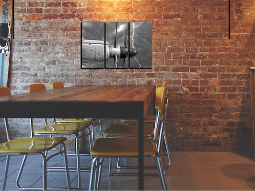 Airplane Propeller Wall Art Decor Picture Painting Print Vintage Aviation Art