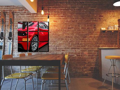 Ferrari 488 GT3 Wall Art Decor Picture Painting Print Sport Car Art