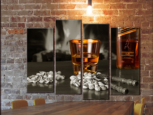 Big Wiskey Wall Art Decor Picture Painting Print 32 by 44 in