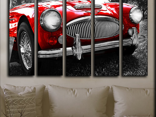 Large Austin Healey Wall Art Decor Picture Painting Print 35 by 55 in