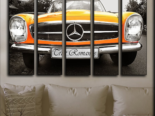 Big Vintage Mercedes Wall Art Decor Picture Painting Print 35 by 55 in