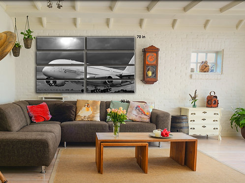 Airbus A 380Airplane Wall Art Decor Picture Painting Print Aviation Art