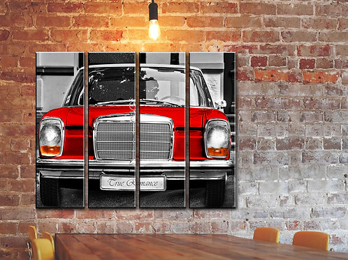 Big Vintage Mercedes-Benz Wall Art Decor Picture Painting Print 32 by 44 in