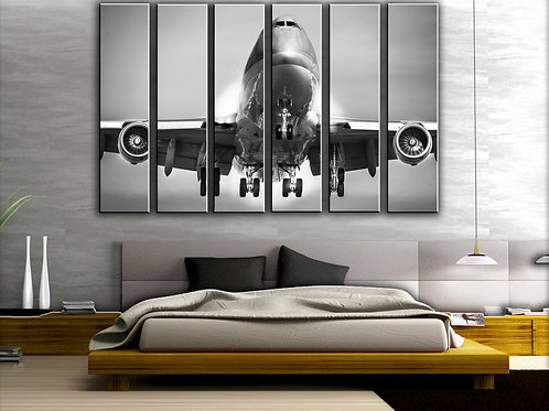 Big Jumbo Jet Boeing-747 Wall Art Decor Picture Painting Print 44 by 67 in