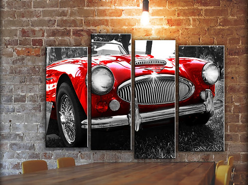 Large Austin Healey Wall Art Decor Picture Painting Print 32 by 44 in