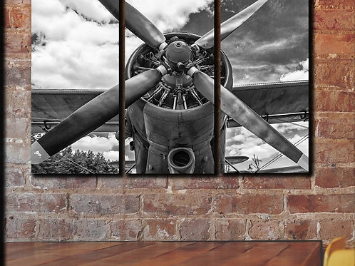 Vintage Airplane Propeller Wall Art Decor Picture Painting Print 22 by 33 in