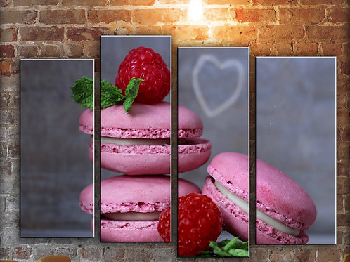 French Macarons for Kitchen Wall Art Decor Picture Painting Print 32 by 44 in