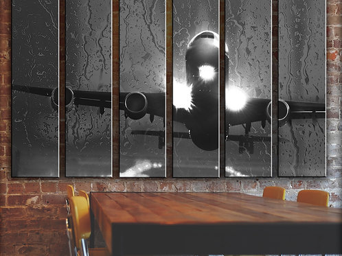 Airplane Tough Landing  Wall Art Decor Picture Painting Print Aviation Art