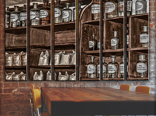 Vintage Pharmacy Wall Art Decor Picture Painting Print Historical Art
