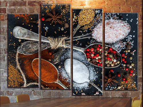 Large Spice and Pepper Wall Art Decor Picture Painting Print 32 by 44 in