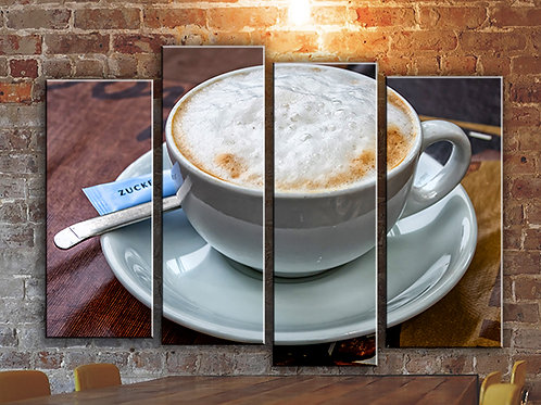 Cappuccino Wall Art Decor Picture Painting Print Coffee Art