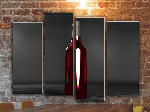 Red Wine on B/W Surface Wall Art Decor Picture Painting Print Wine Spirits Art