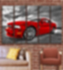 ford mustang wall canvas art picture 5 panels large size