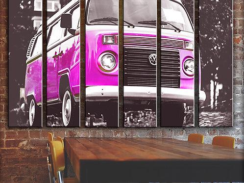 Vintage Volkswagen Wall Art Decor Picture Painting Print Vintage Car Art