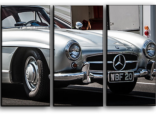 Mercedes-Benz 300SL Wall Art Decor Picture Painting Print Vintage Car Art