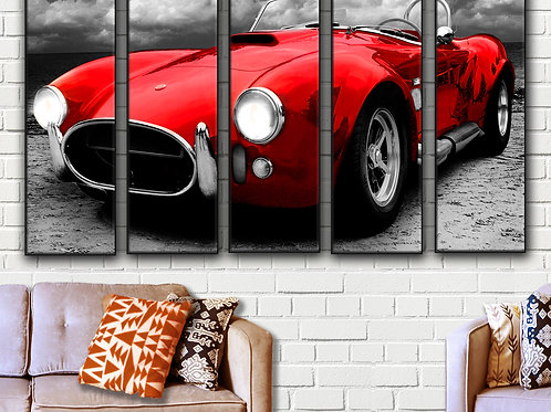 Big Shelby AC Cobra Wall Art Decor Picture Painting Print 35 by 55 in